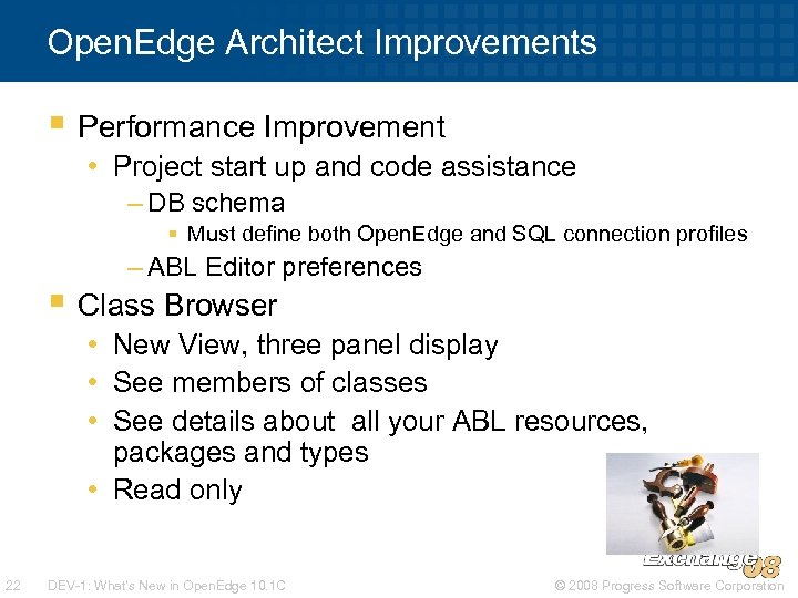 Open. Edge Architect Improvements § Performance Improvement • Project start up and code assistance