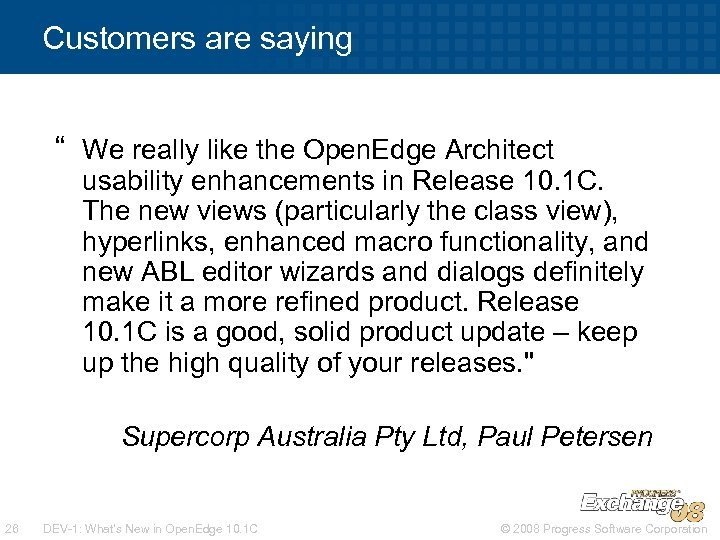 """Customers are saying """" We really like the Open. Edge Architect usability enhancements in"""