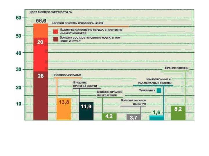 Причины смертности населения в России, 2007 г.