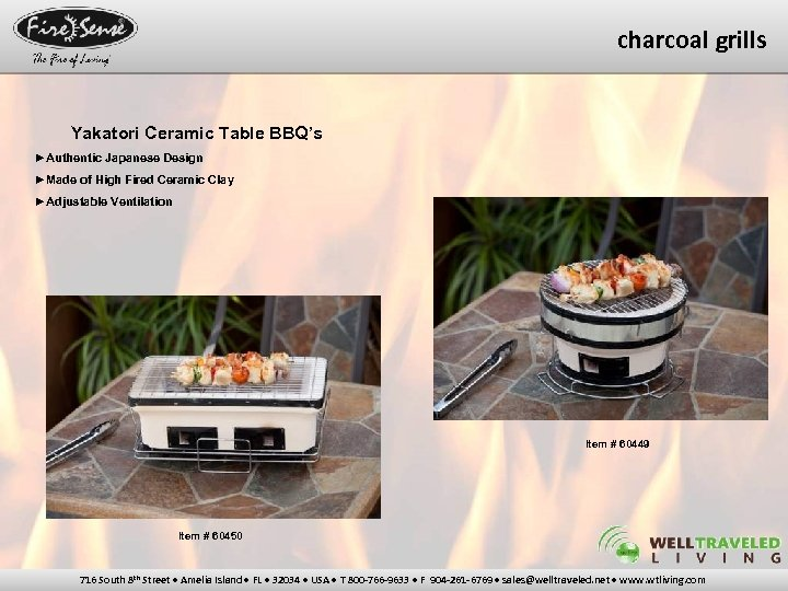 charcoal grills Yakatori Ceramic Table BBQ's ►Authentic Japanese Design ►Made of High Fired Ceramic