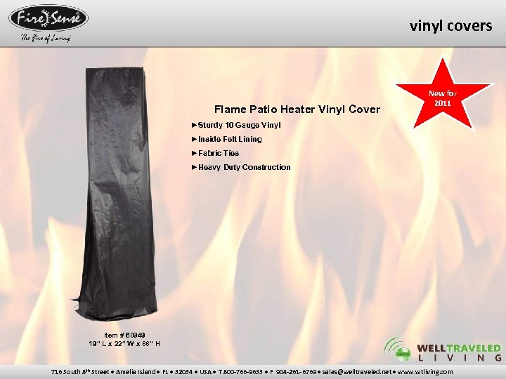 vinyl covers Flame Patio Heater Vinyl Cover New for 2011 ►Sturdy 10 Gauge Vinyl