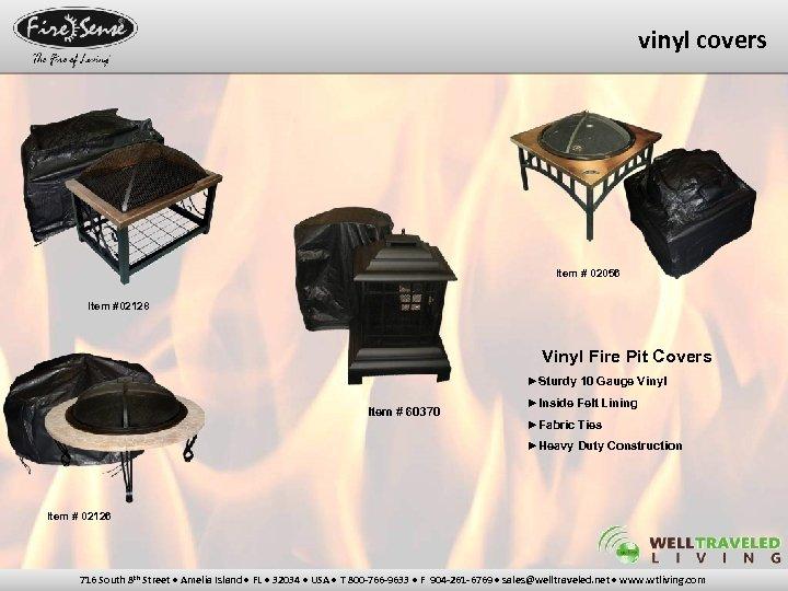 vinyl covers Item # 02056 Item #02128 Vinyl Fire Pit Covers ►Sturdy 10 Gauge