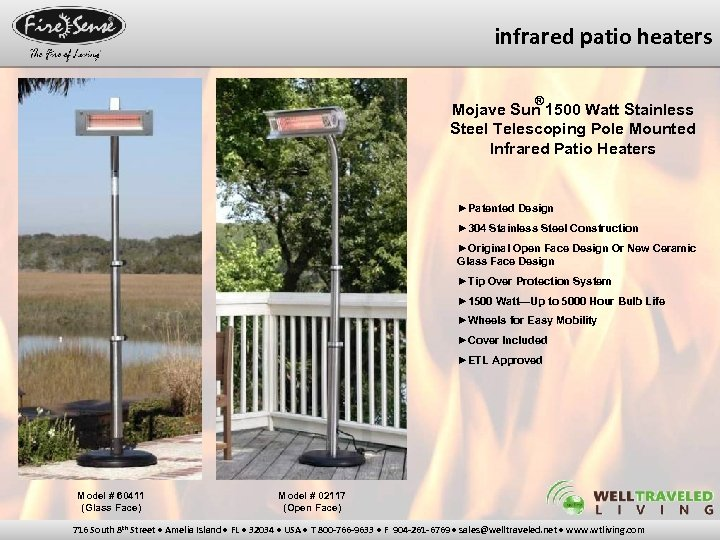 infrared patio heaters ® Mojave Sun 1500 Watt Stainless Steel Telescoping Pole Mounted Infrared