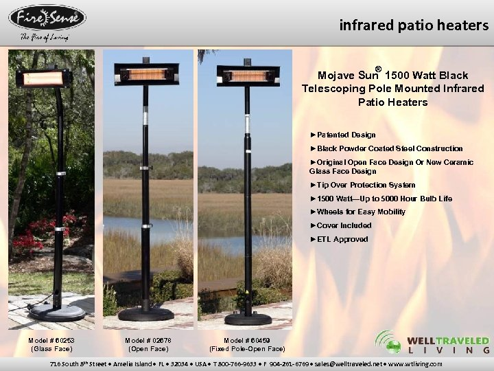 infrared patio heaters ® Mojave Sun 1500 Watt Black Telescoping Pole Mounted Infrared Patio