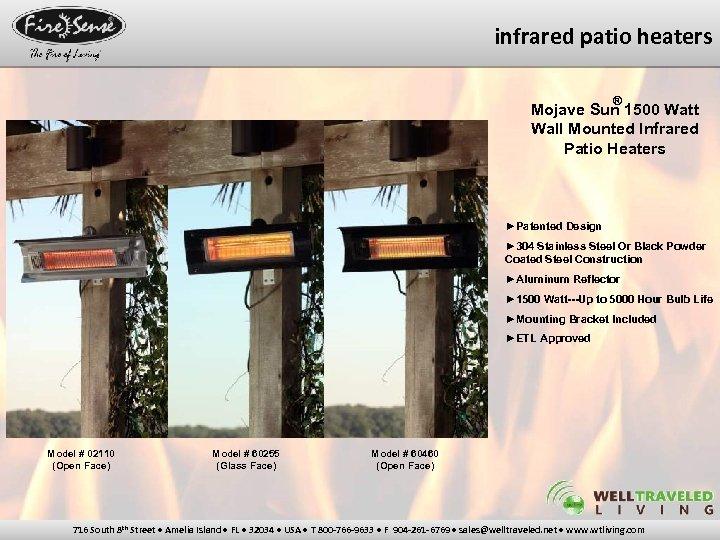 infrared patio heaters ® Mojave Sun 1500 Watt Wall Mounted Infrared Patio Heaters ►Patented