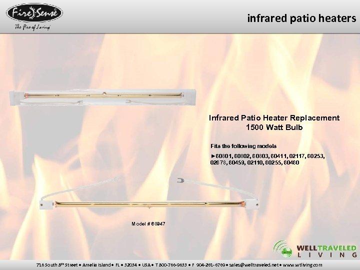 infrared patio heaters Infrared Patio Heater Replacement 1500 Watt Bulb Fits the following models