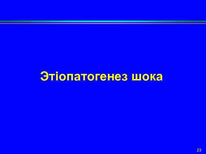 Этіопатогенез шока 23