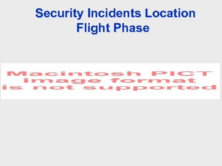 Security Incidents Location Flight Phase