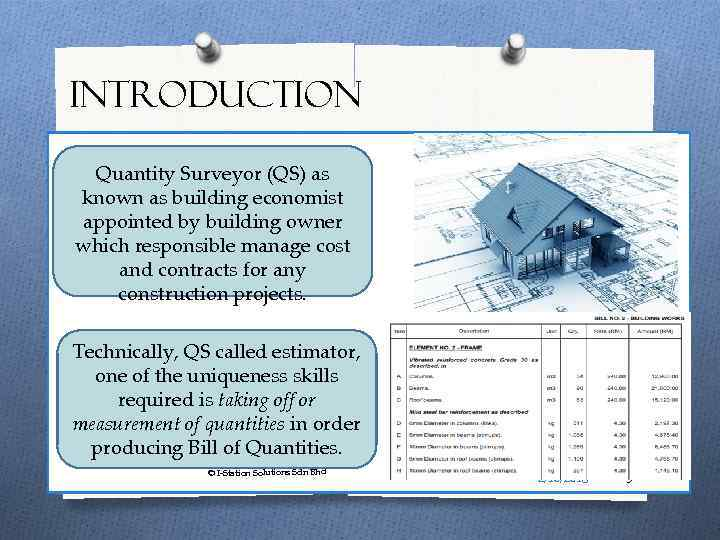 Introduction to Measurement of Building Works EQS 3134