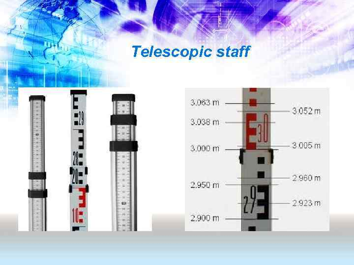 Telescopic staff