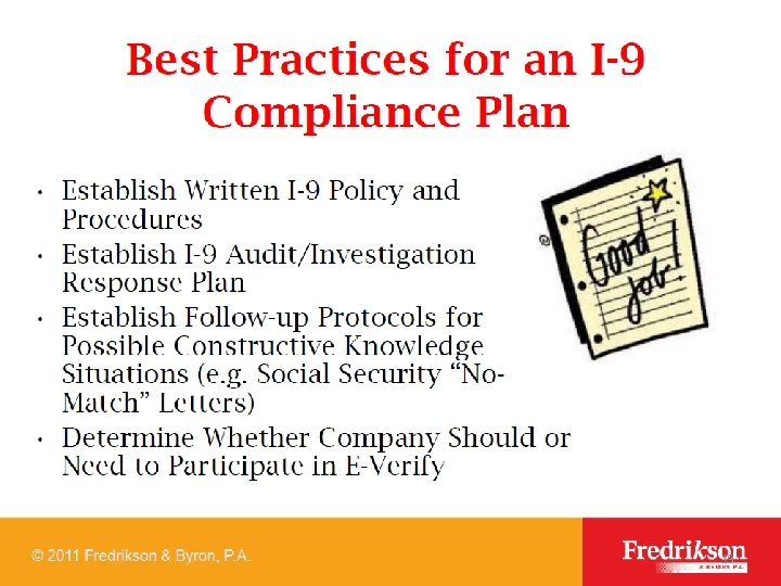Best practices for 1 -9 19