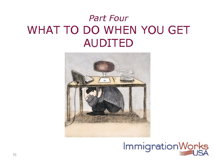 Part Four WHAT TO DO WHEN YOU GET AUDITED 31