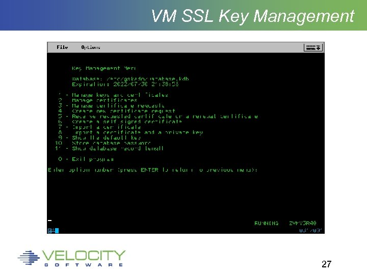 VM SSL Key Management 27