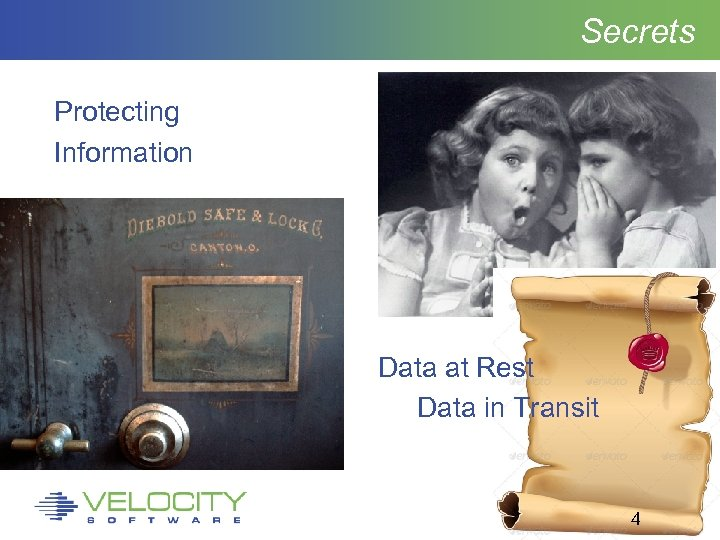Secrets Protecting Information Data at Rest Data in Transit 4