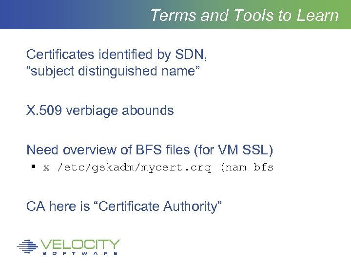 "Terms and Tools to Learn Certificates identified by SDN, ""subject distinguished name"" X. 509"