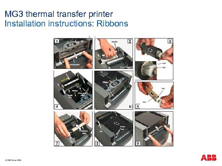 MG 3 thermal transfer printer Installation instructions: Ribbons © ABB Group 2009