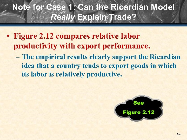 Note for Case 1: Can the Ricardian Model Really Explain Trade? • Figure 2.