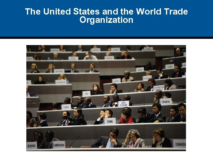 The United States and the World Trade Organization