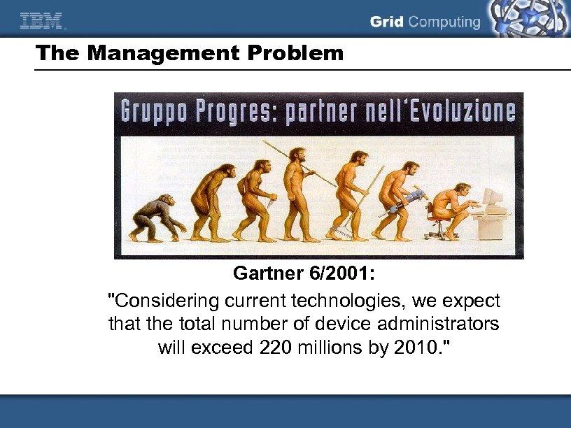 The Management Problem Gartner 6/2001: