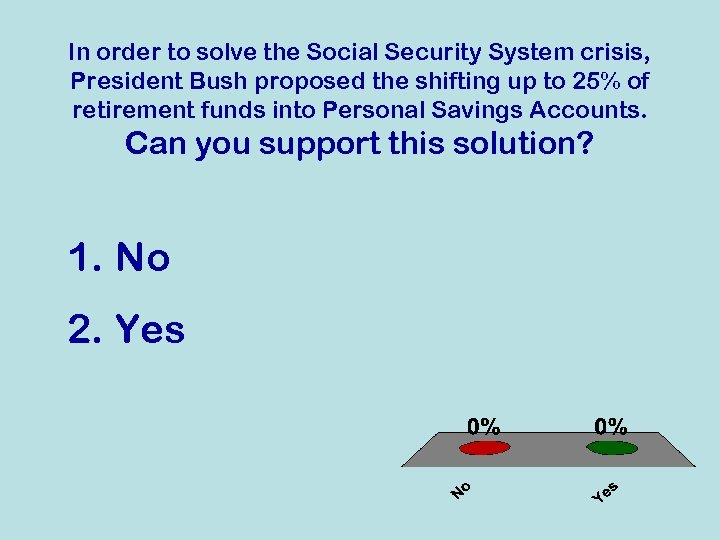 In order to solve the Social Security System crisis, President Bush proposed the shifting
