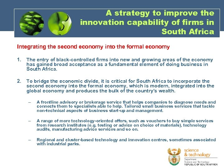 A strategy to improve the innovation capability of firms in South Africa Integrating the