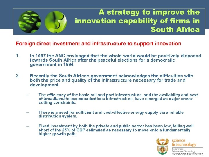 A strategy to improve the innovation capability of firms in South Africa Foreign direct