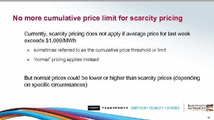 No more cumulative price limit for scarcity pricing Currently, scarcity pricing does not apply
