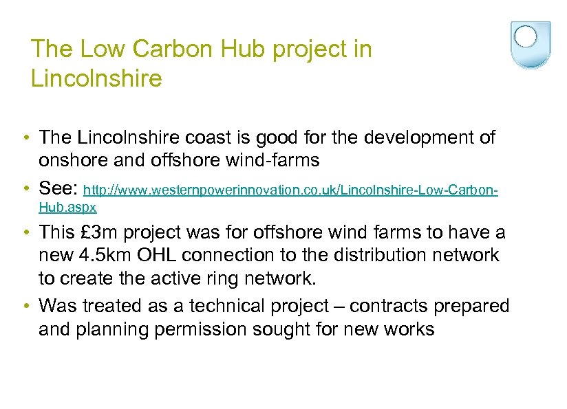 The Low Carbon Hub project in Lincolnshire • The Lincolnshire coast is good for