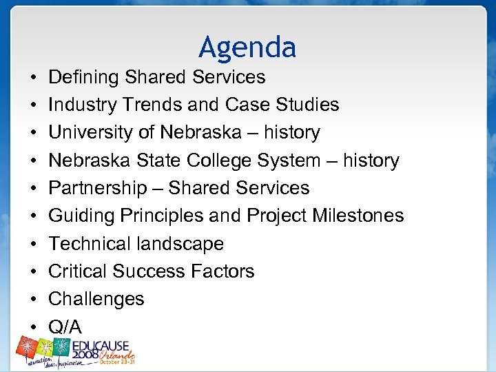 Agenda • • • Defining Shared Services Industry Trends and Case Studies University of