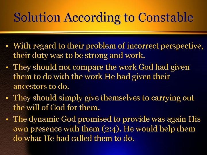 Solution According to Constable • With regard to their problem of incorrect perspective, their