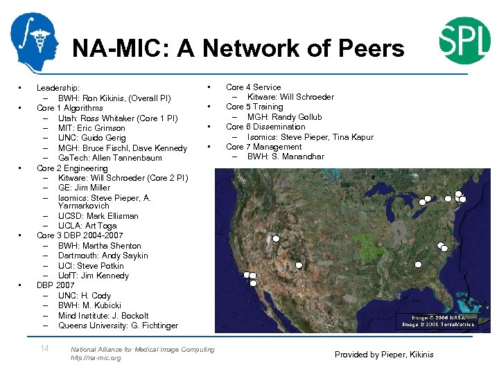 NA-MIC: A Network of Peers • • • Leadership: – BWH: Ron Kikinis, (Overall