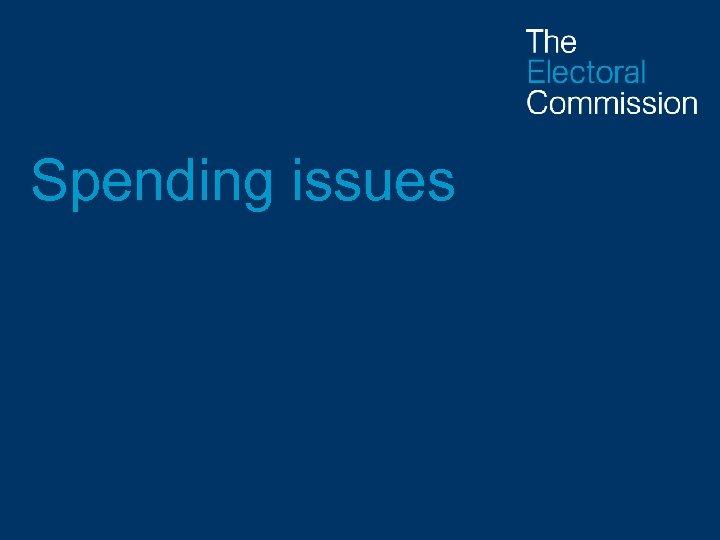 Spending issues