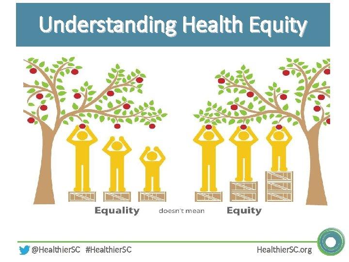 Understanding Health Equity @Healthier. SC #Healthier. SC. org