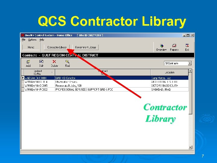 QCS Contractor Library 7