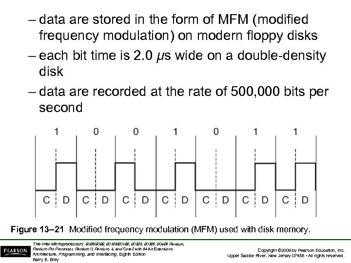 – data are stored in the form of MFM (modified frequency modulation) on modern