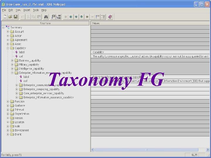 Taxonomy FG 17