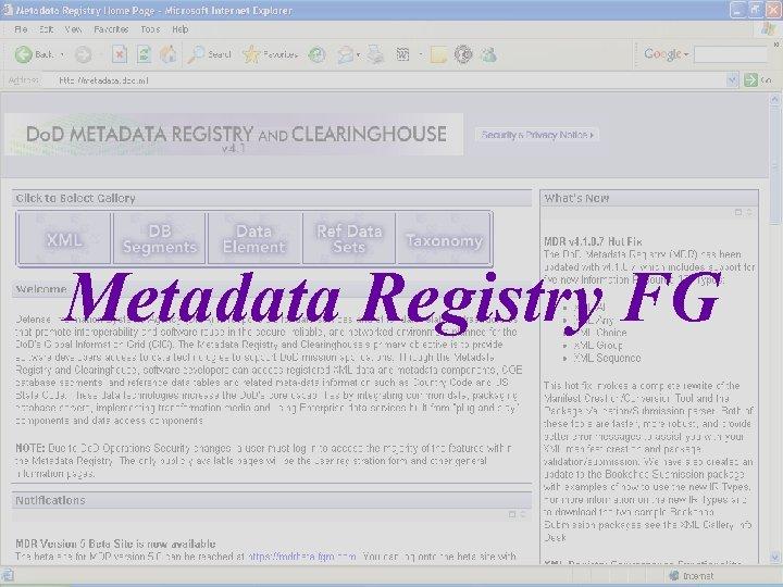 Metadata Registry FG 6