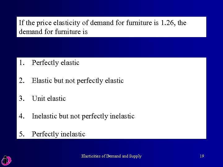 If the price elasticity of demand for furniture is 1. 26, the demand for