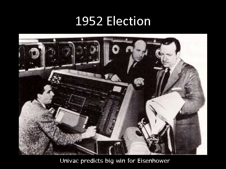 1952 Election Univac predicts big win for Eisenhower