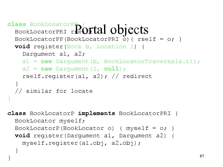 class Book. Locator. PP { Book. Locator. PRI rself; Book. Locator. PP(Book. Locator. PRI
