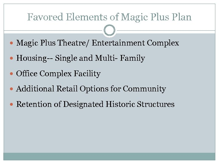 Favored Elements of Magic Plus Plan Magic Plus Theatre/ Entertainment Complex Housing-- Single and