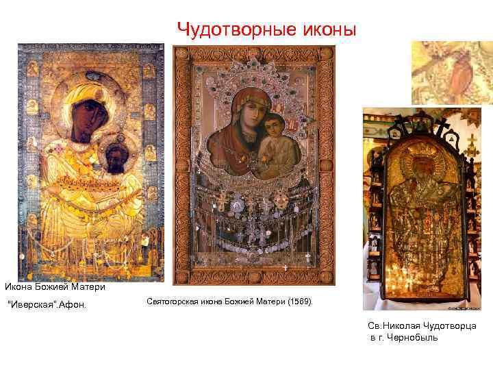 Чудотворные иконы Икона Божией Матери