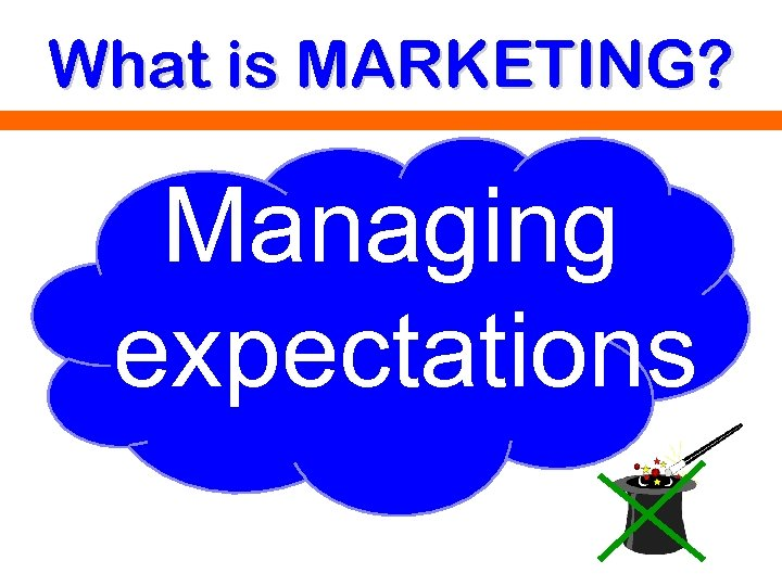 What is MARKETING? Managing expectations