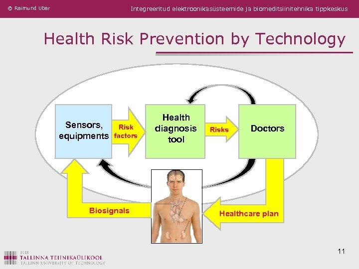 © Raimund Ubar Integreeritud elektroonikasüsteemide ja biomeditsiinitehnika tippkeskus Health Risk Prevention by Technology Sensors,