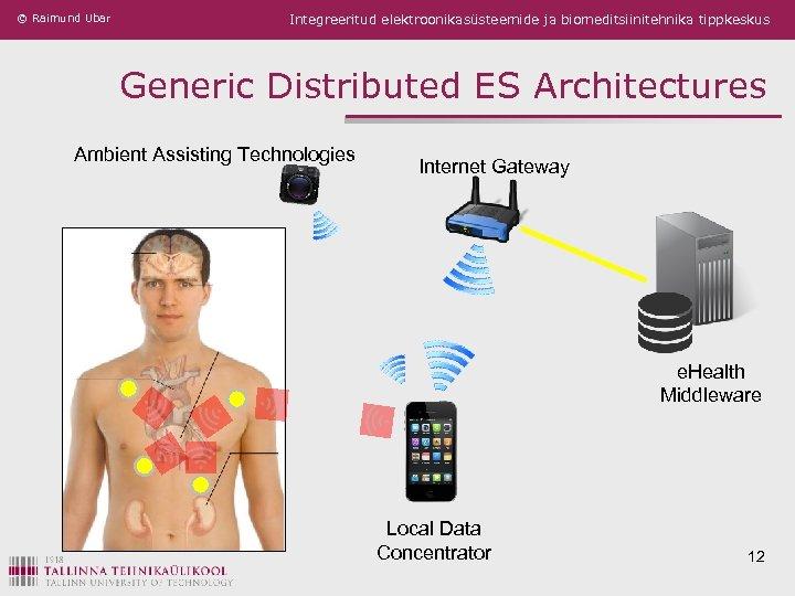 © Raimund Ubar Integreeritud elektroonikasüsteemide ja biomeditsiinitehnika tippkeskus Generic Distributed ES Architectures Ambient Assisting