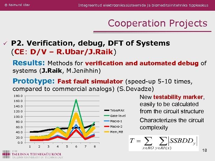 © Raimund Ubar Integreeritud elektroonikasüsteemide ja biomeditsiinitehnika tippkeskus Cooperation Projects ü P 2. Verification,