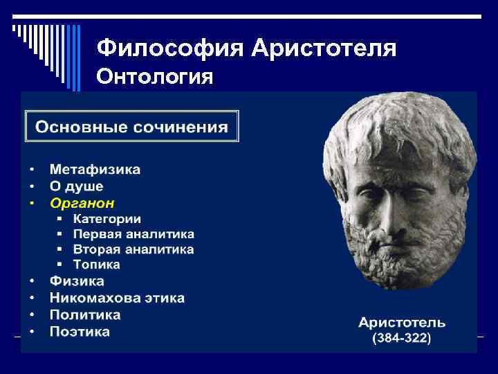 Философия Аристотеля Онтология