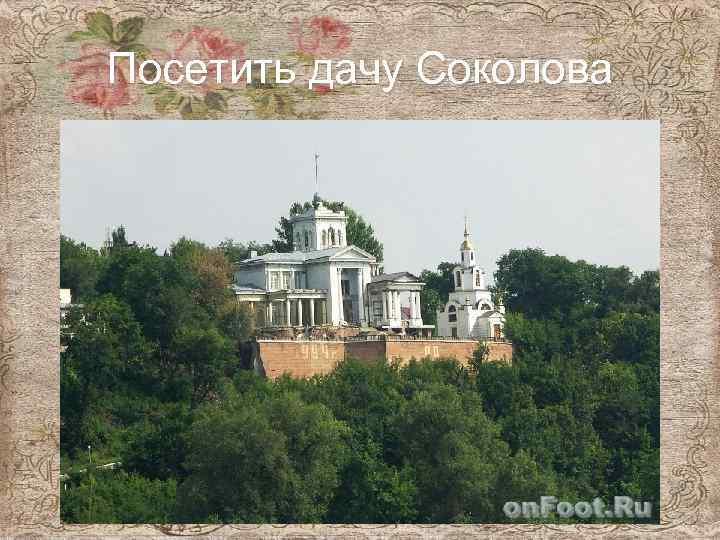Посетить дачу Соколова