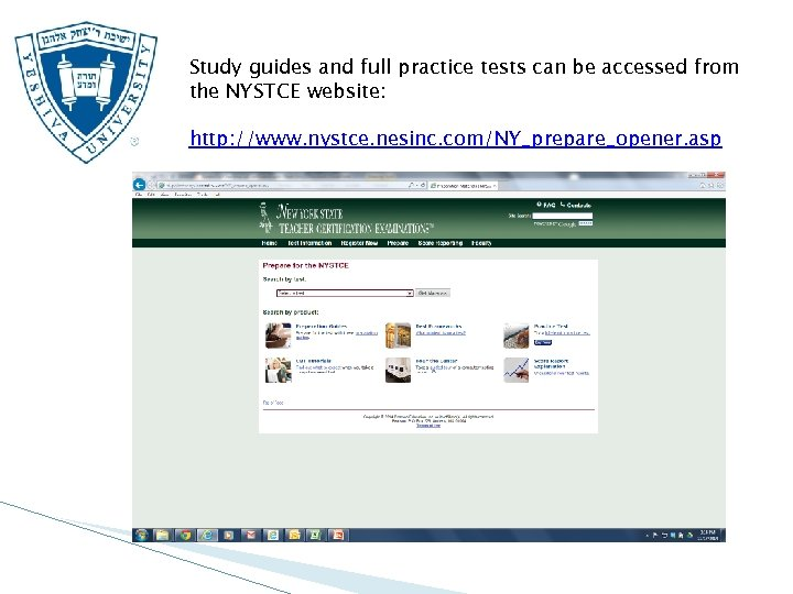 Study guides and full practice tests can be accessed from the NYSTCE website: http: