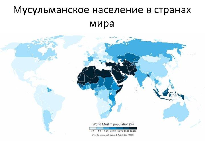 Мусульманское население в странах мира